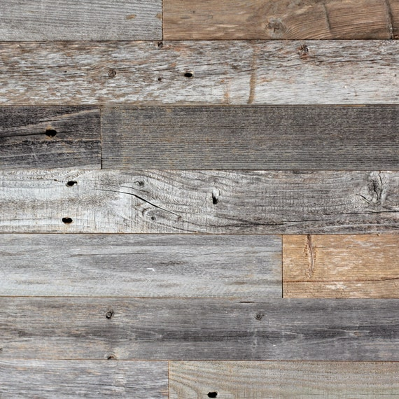 Diy reclaimed barn wood wall easy peel and stick for Removable wallpaper wood paneling