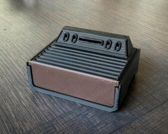 3D Printed Atari 2600 Case for Raspberry Pi B+, Pi 2, and Pi 3 - Black/Brown