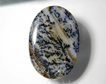 A+++ Dendritic Agate, Natural Honey Dendrite agate cabochon, Honey Dendrite agate loose stone, Dendrite agate loose gemstone 64 Cts. #1003N