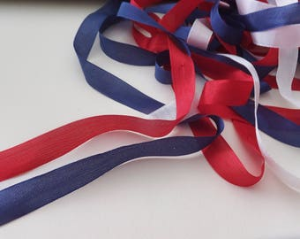 30 Yd. Red / White / Blue  Seam Binding / Ribbon ~ Patriotic Gift Wrap ~ Embellishments ~ Crafts