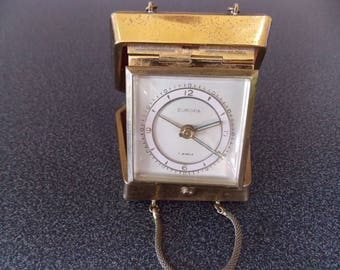 German Europa 7 jewels travel alarm clock