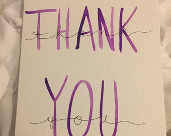 3x5 Thank You Cards set of 25