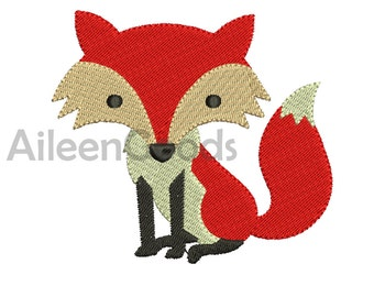 Fox Embroidery  design 8 Size  INSTANT download machine embroidery