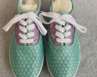 Girls Mermaid Custom Shoes