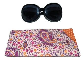 Sunglasses Case, Padded Glasses Case, Sunglasses sleeve, Reading Glasses pouch, Eyeglass case