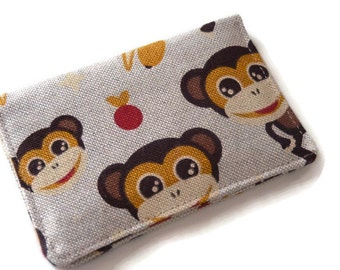 Womens Credit Card Holder, Womans Wallet, Travel Wallet, Minimalist Wallet, Business Card Holder, Card Wallet, Mini Wallet Monkey