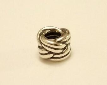 Sterling Silver 925 Vintage Pandora Twist Knot Charm
