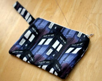 Doctor Who TARDIS Zipper Pouch