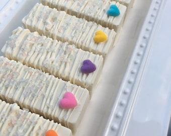 Rainbow Heart Cake Truffles