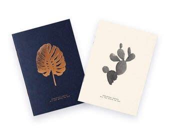 Duo notebooks A6, letterpress & marking hot copper