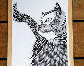 Illustration Jack. Mandala. Decoration. Interior Design. Zen. Design. Animal.