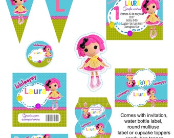 LALALOOPSY Invitation Party Kit (Digital) (Printable) (Personalized)
