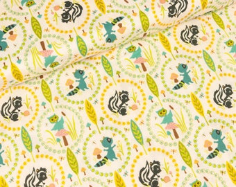 Cotton Riley Blake woodland tails cream (14,00 EUR / meter)