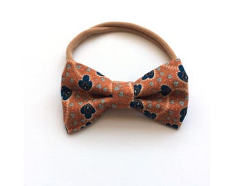 Rust Orange Mini Bow