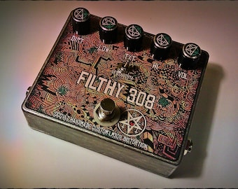 Occvlt Pedals Filthy 308 Distortion Pedal - guitar effect