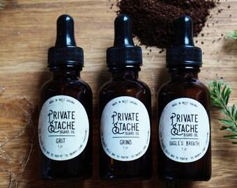 BEARD OIL KIT: Sandalwood,Cedarwood,Pine,Coffee,Beard Conditioner,Private Stache,Beard Oil, Beard Grooming,Beard Oil Kit,Gifts for Him