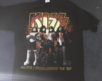 Kiss Alive Worldwide World Tour Shirt 96/97 XL