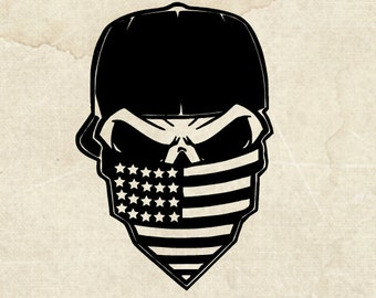 SKULL/ American skull/ America/ Car Decal/ Window Decal/ Yeti sticker