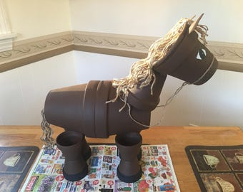 Made To Order Clay Pot Horse