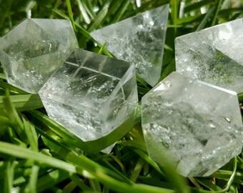 Clear Quartz Five Platonic Solids Set