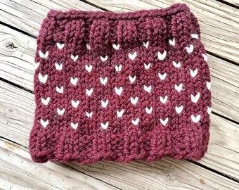 Fair Isle Cowl // Knit Cowl // Woman's Knit Cowl // Knit Neck Warmer // Winter Knit Snood