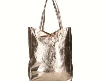 Elegant woman shoulder bag – Monica Bronze-Code # 8521