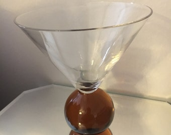 Vintage martini ball bottom glasses