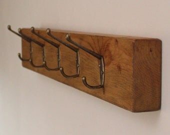 Antique Wooden Rustic Pine Coat Rack Reclaimed Wood Vintage Coat Hooks