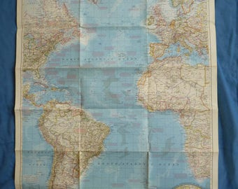 Retro Old School National Geographic Maps. Idea For Framing