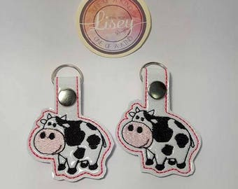 Digital file: 2 Cows Key fobs by Lisey designs