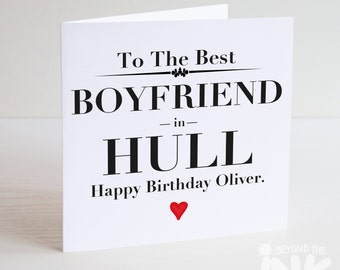 Personalised Birthday Card - Best Boyfriend In Your City or Country