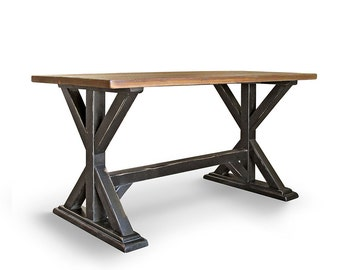 Pub Table, Dining Table, Counter Table, Reclaimed Wood, Kitchen Table, Handmade, Rustic
