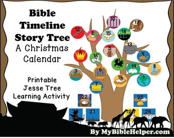 Bible Timeline Jesse Tree Advent Calendar