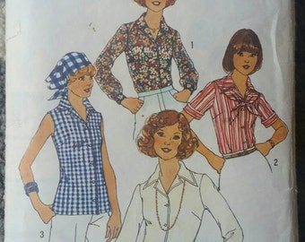Simplicity 7353 Blouse and Scarf Pattern