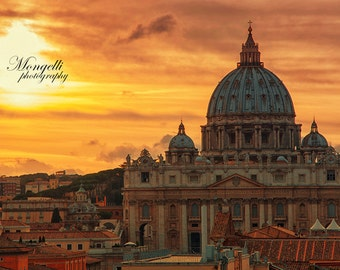 View of Vatican in Rome, Italy - Instant download for print - home decor wall art italia