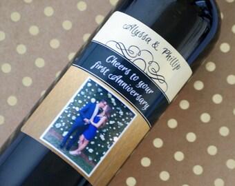 Engagement Wine Label, Anniversary Wine, Wine Label, Wedding Gift, Anniversary Wine Label, Custom Wine Label, Personalized Wine Label, Gift