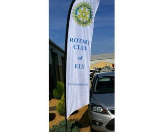 Power Flag Feather. Advertising flag. Banner. Forecourt flag.