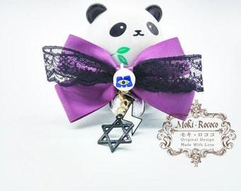 MokiRococo Halloween Purple Monster Collar