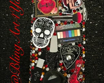 Skull/Gothic Makeup Case Cover -Iphone 6 plus