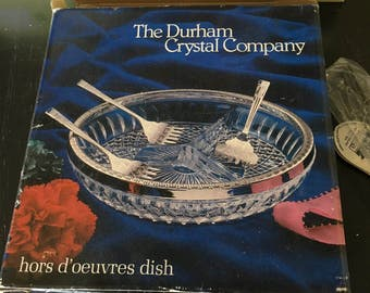 Vintage Durham Crystal Company Hors D'oeuvres Plate