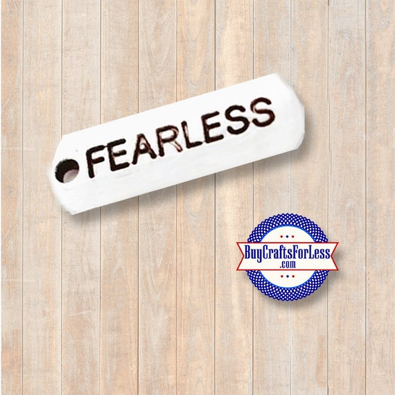 """Affirmation Charms, """"FEARLESS"""", 4 pcs  +Discounts & FREE Shipping*"""