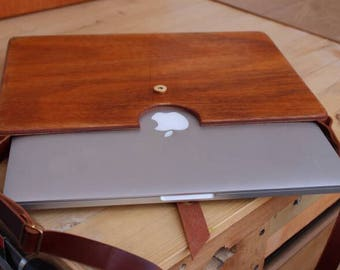 Computer wood case