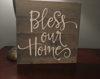 Bless our home sign, home decor