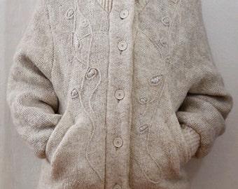 Padded bomber jacket from knitting