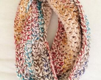 Hudson Bay Cowl, Crochet Infinity Scarf, Crochet Cowl, Chunky Cowl, Chunky Scarf, Long Infinity Cowl, Long Scarf, Multicolor Scarf