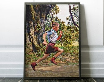 Forest Gump Movie Poster Art Canvas Print Wall Decor Canvas Cinema Poster Print Designer Art Painting Wall Art Home Gift