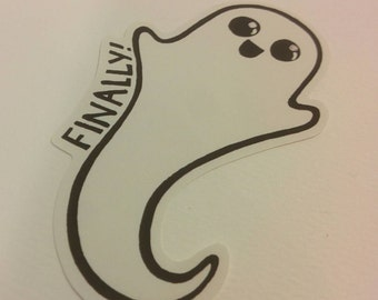 Happily dead ghost sticker