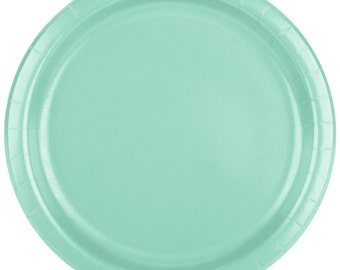 "25 (9"") Fresh Mint Round Paper Plate, Wedding Supplies, Wedding, Wedding Decor, Plastic Plates, Party Supplies, Paper Plates, Wedding"