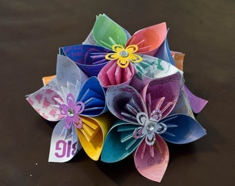 Origami Kusudama flowers Table Centre piece, Decoration, weddings, home decor, occasions