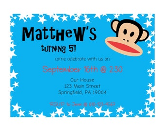 Julius Birthday Party Invitation - Personalize and Print at Home